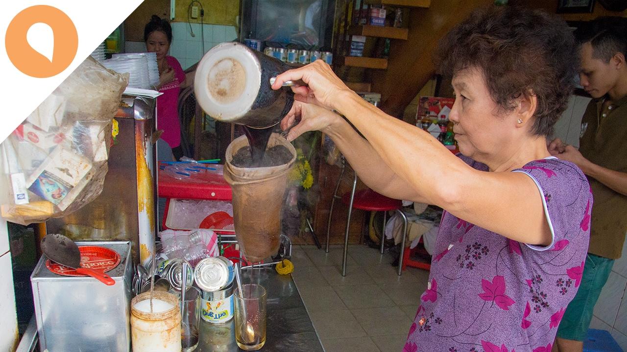 Saigon Street Food: Net-Filter Coffee (Ca Phe Vot) - The Most Unique Cafe in Saigon
