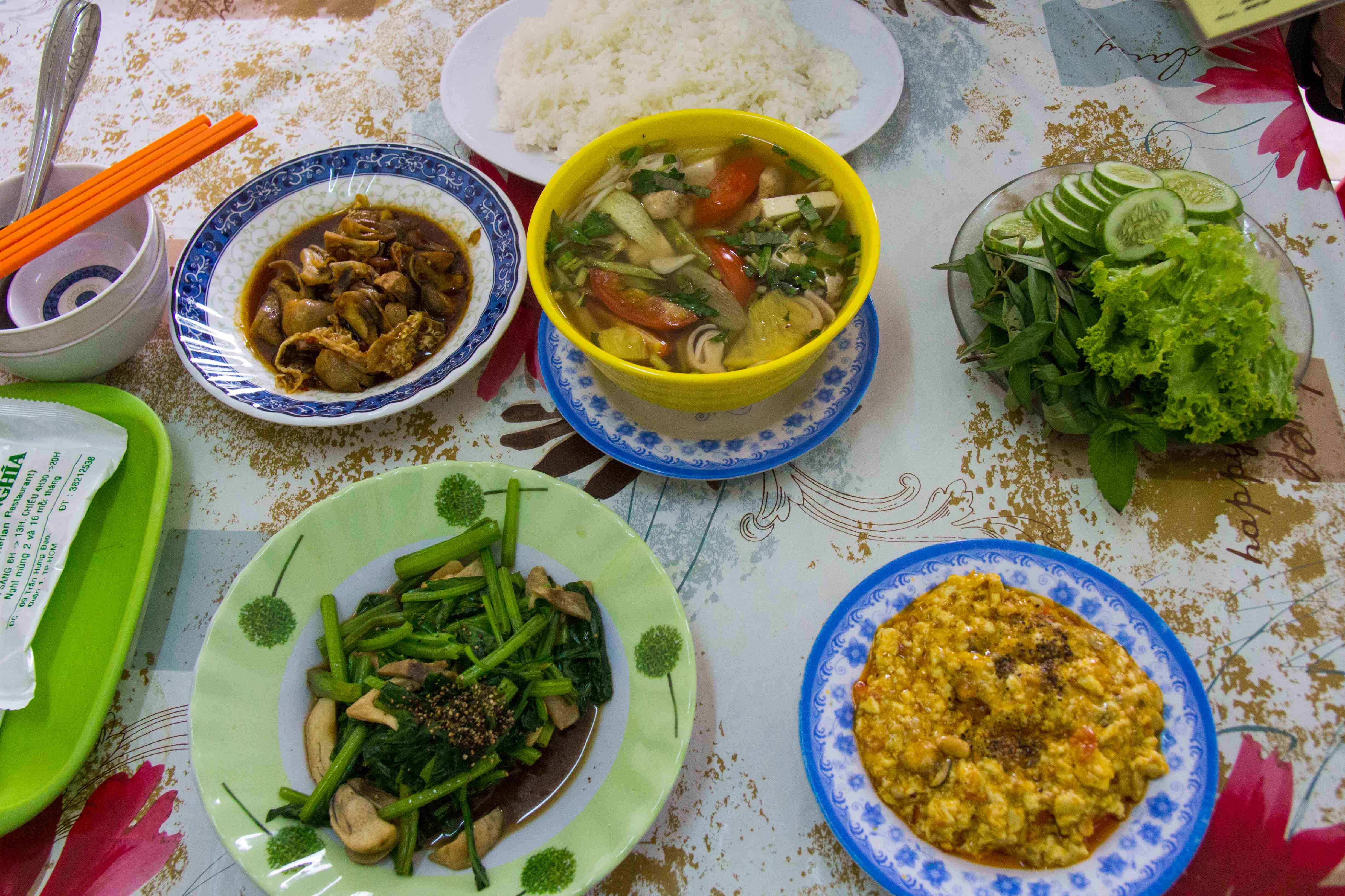 Vegetarian Food in Saigon