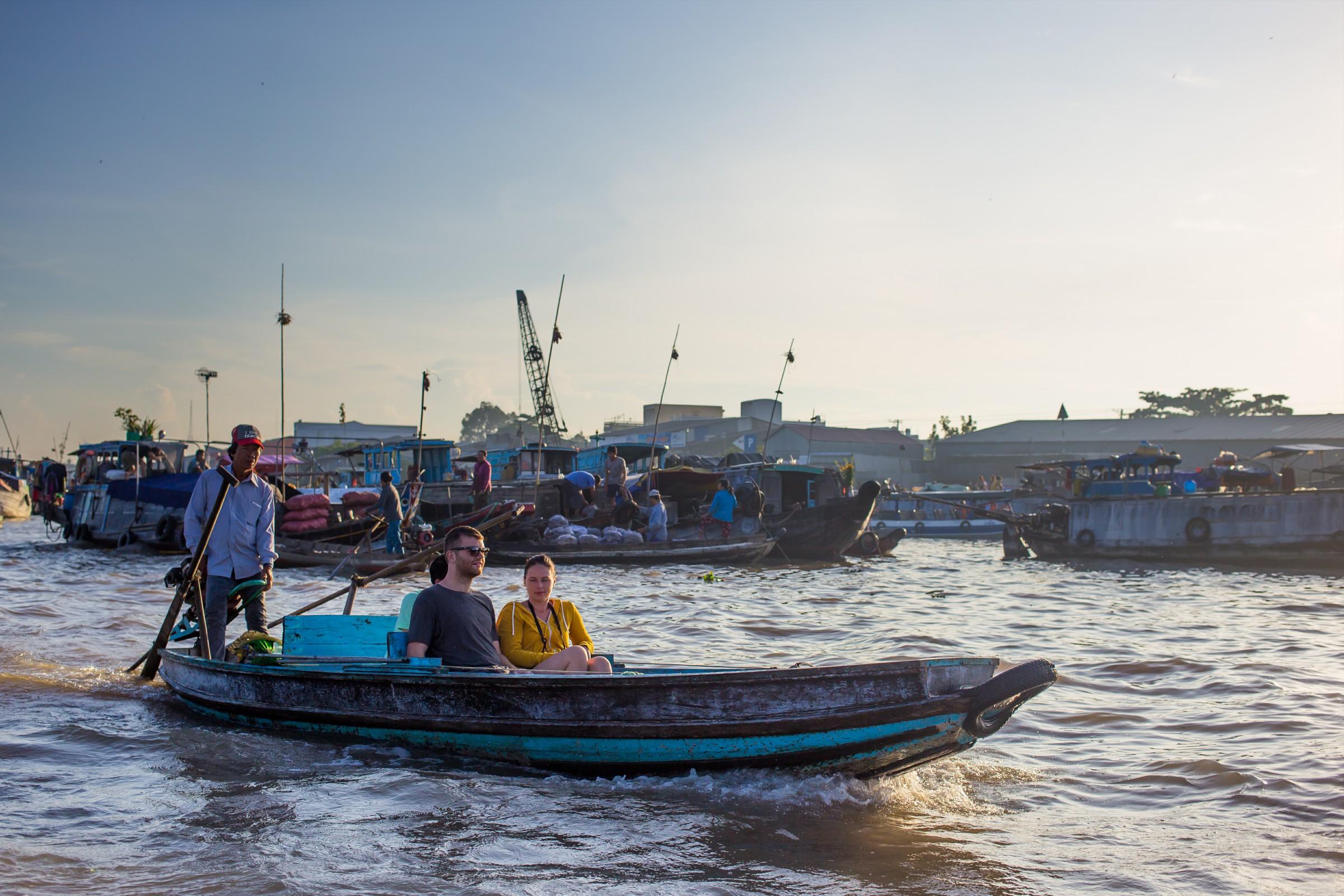 cai rang floating market Mekong delta