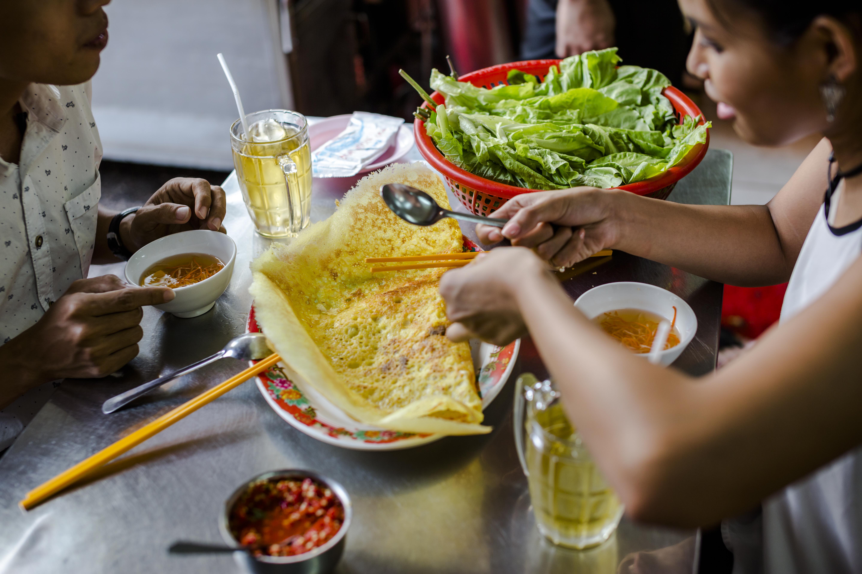 Vietnamese pancake Cho Lon