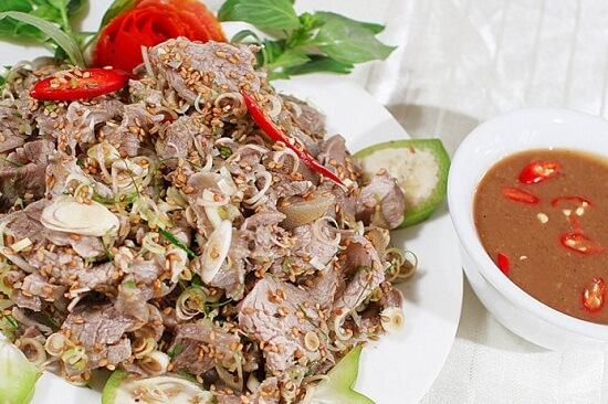 Vietnamese goat salad