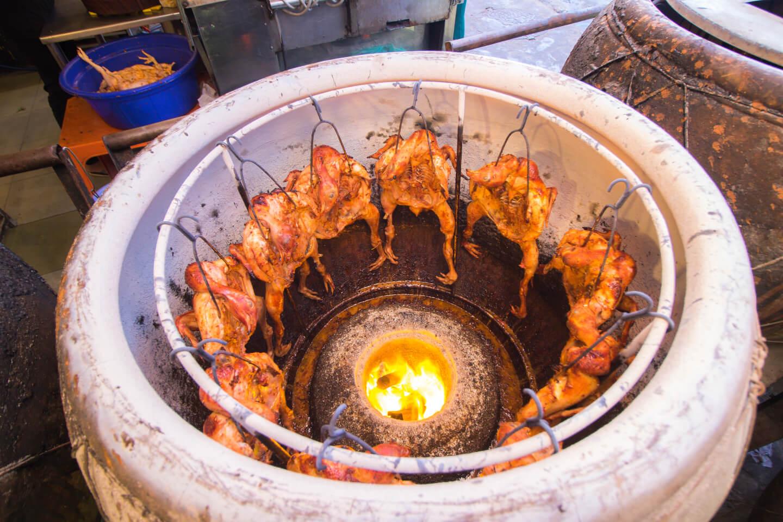 roast chicken in claypot