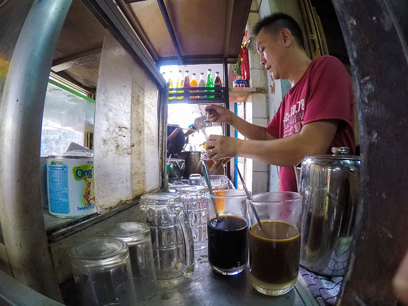 drum roasted coffee saigon