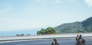 Hai Van pass on motorbike