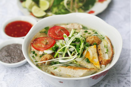 bun-cha-ca dishes from da nang