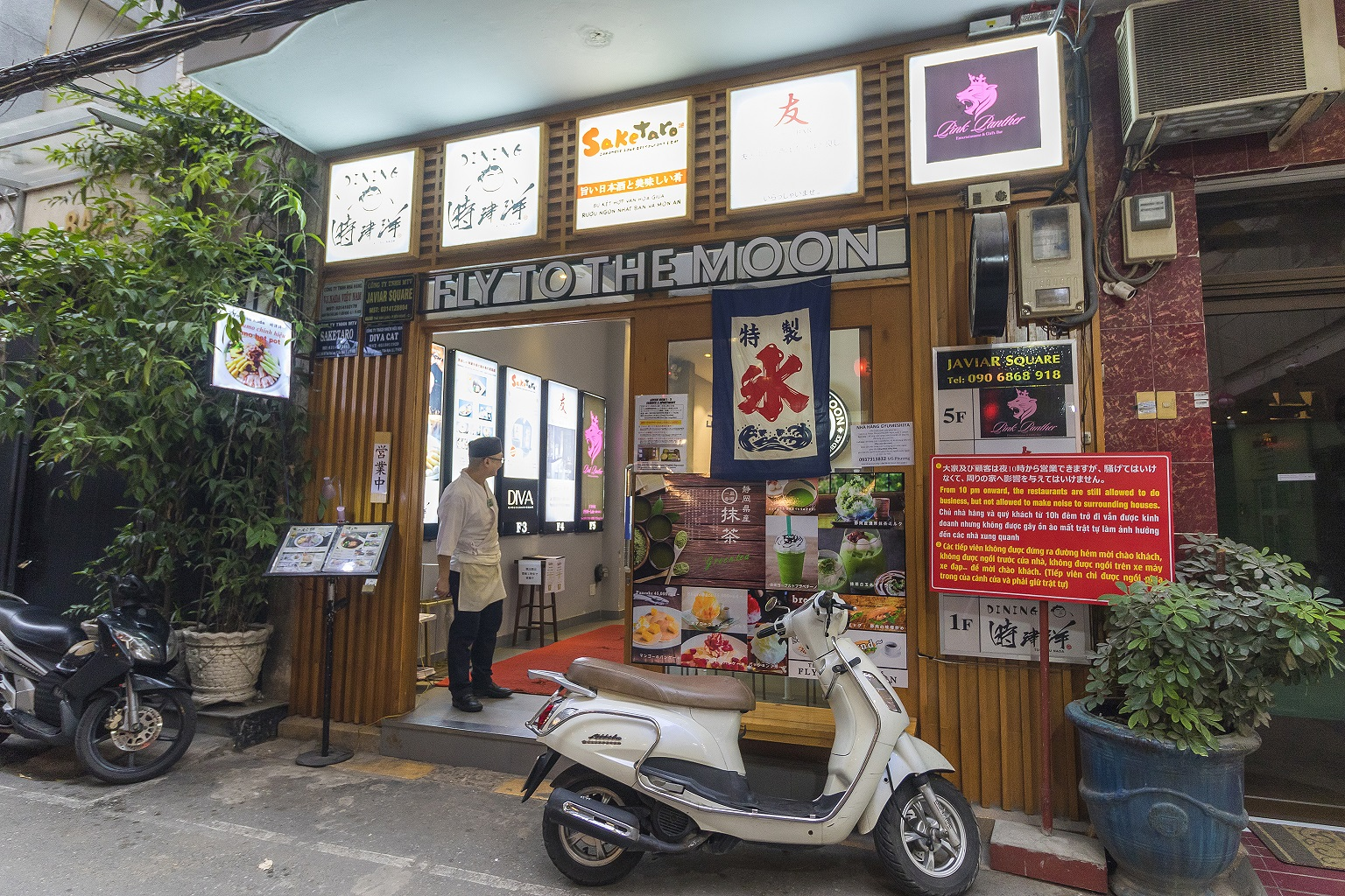 restaurant in little japan town in saigon