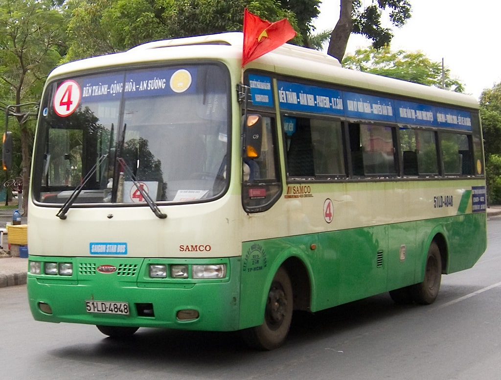 Image result for bus in sai gon