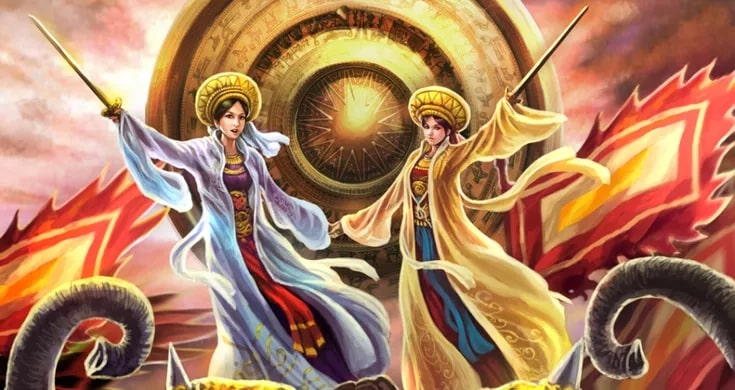 female icons of vietnam hai ba trung sisters