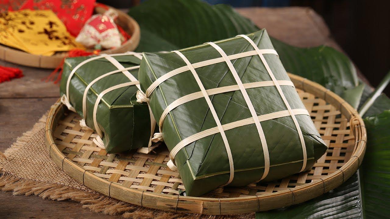 traditional vietnamese cakes banh chung